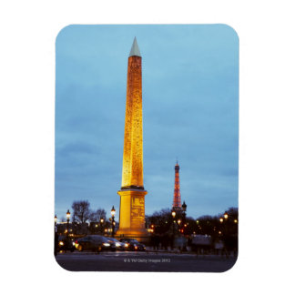 Skyline at dusk of 'Place de la Concorde' with Magnet