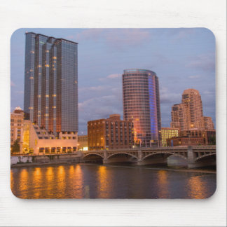 Skyline At Dusk, On The Grand River 2 Mouse Pad