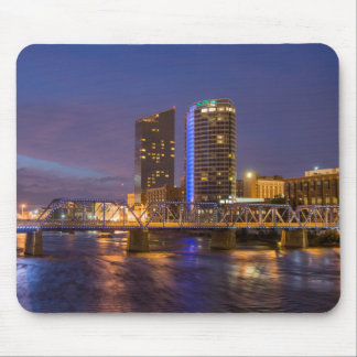 Skyline At Dusk, On The Grand River Mouse Pad
