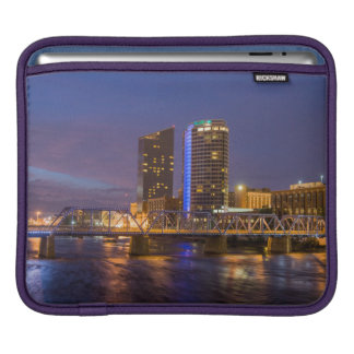 Skyline At Dusk, On The Grand River Sleeve For iPads