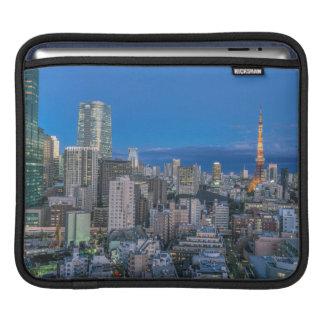 Skyline at twilight iPad sleeves