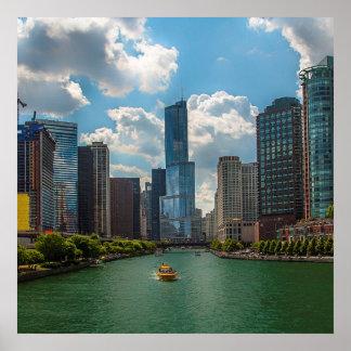 Skyline Chicago Poster