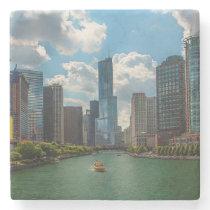 Skyline Chicago Stone Coaster