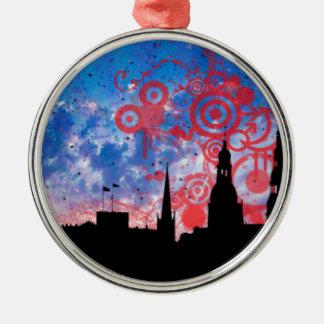 Skyline Christmas Ornament