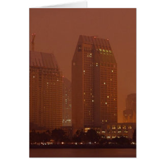 Skyline City Cities Fog Morning 3 Cards
