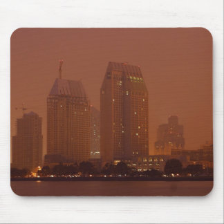 Skyline City Cities Fog Morning 3 Mouse Pad