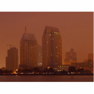 Skyline City Cities Fog Morning 3 Photo Cut Outs