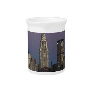 Skyline City Manhattan New York Drink Pitcher