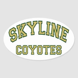 Skyline Coyotes Oval Sticker