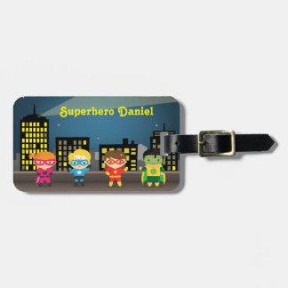 Skyline Cute Superhero For Kids Luggage Tag