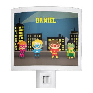 Skyline Cute Superhero For Kids Room Night Lights