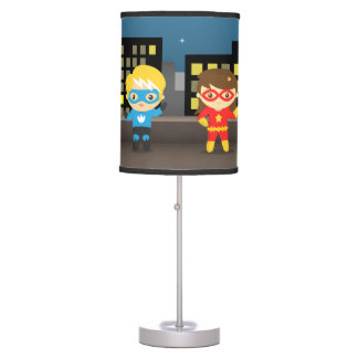 Skyline Cute Superhero For Kids Room Desk Lamp