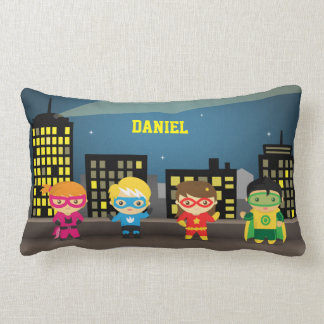 Skyline Cute Superhero For Kids Room Pillows