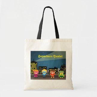Skyline Cute Superhero For Kids Tote Bag