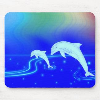 Skyline Dolphin Mouse Pad