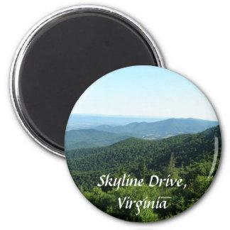 Skyline Drive 2 Inch Round Magnet