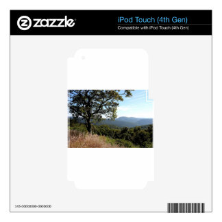 Skyline Drive Mountain View Decals For iPod Touch 4G