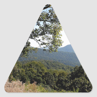 Skyline Drive Mountain View Triangle Sticker