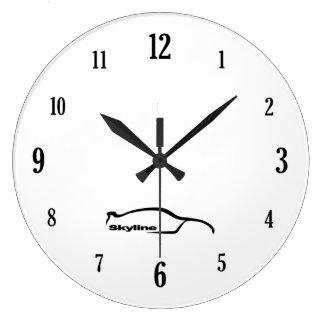 Skyline GT-R Black Brushstroke Logo Clock