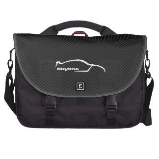 Skyline GT-R white brushstroke logo Commuter Bags