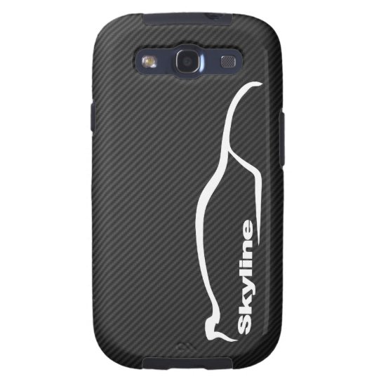 Skyline GT-R White Silhouette Logo Galaxy S3 Cover