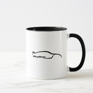 Skyline GTR Black Silhouette Logo Mug