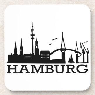 Skyline Hamburg Beverage Coaster