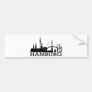 Skyline Hamburg Bumper Stickers