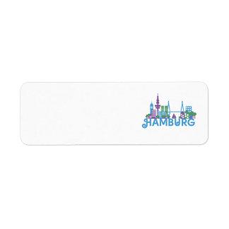 Skyline Hamburg Custom Return Address Labels