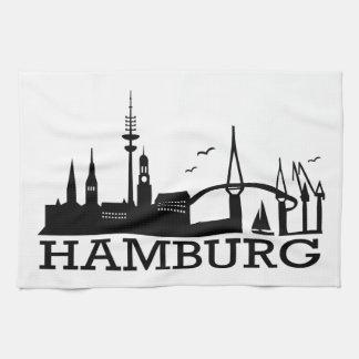 Skyline Hamburg Towel