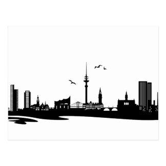 Skyline Hamburg Postcard