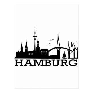 Skyline Hamburg Post Cards