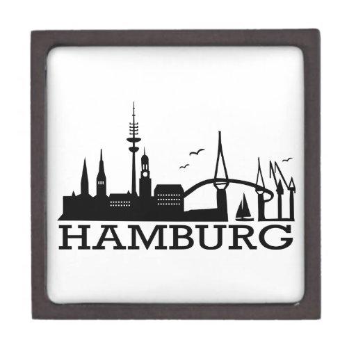 Skyline Hamburg Premium Keepsake Boxes