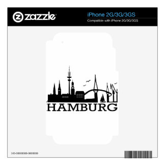 Skyline Hamburg iPhone 2G Skins