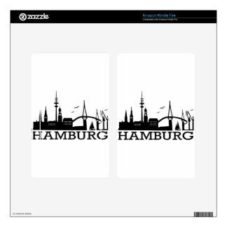 Skyline Hamburg Decal For Kindle Fire