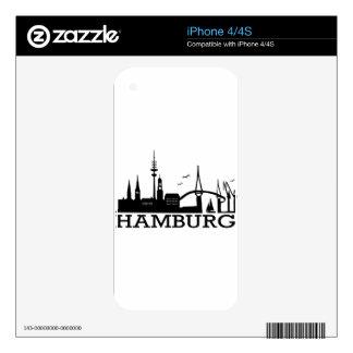 Skyline Hamburg Decals For iPhone 4S