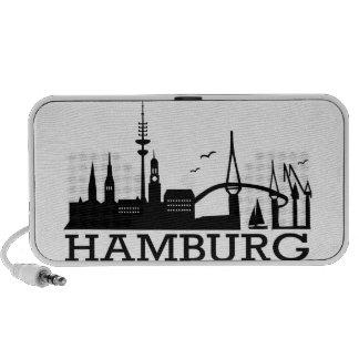 Skyline Hamburg Travelling Speakers