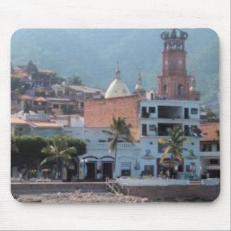 skyline in Puerto vallarta mousepad