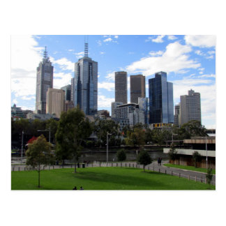 skyline melbourne postcard