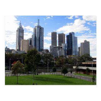 skyline melbourne postcard