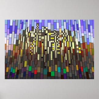Skyline Mosaic Poster