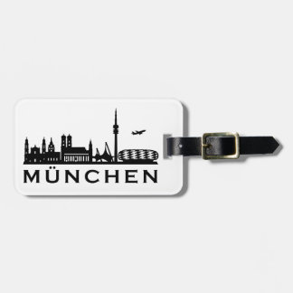 Skyline Munich Luggage Tag