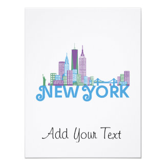 Skyline New York Personalized Announcement