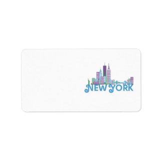Skyline New York Label