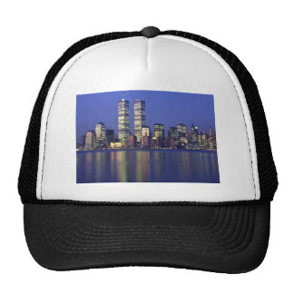 Skyline New York with World Trade Center Trucker Hats