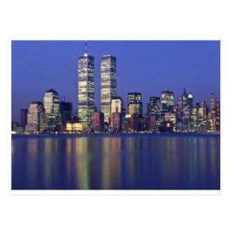 Skyline New York with World Trade Center Postcard