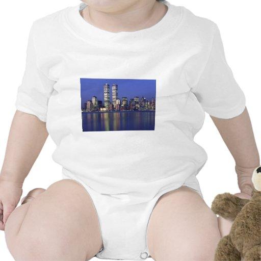 Skyline New York with World Trade Center Baby Creeper