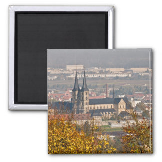 Skyline of Bamberg, Germany 2 Inch Square Magnet