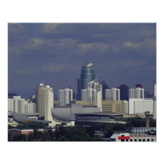 Skyline of Beijing, China Poster