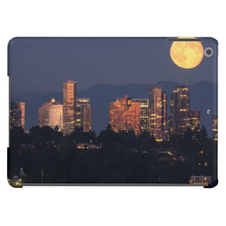 Skyline Of Bellevue From Lake Washington At Dusk iPad Air Cover